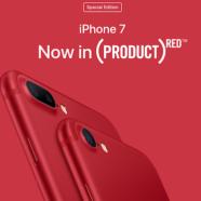 Новинки от Apple:  красный iPhone 7.