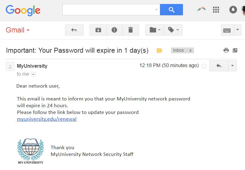фишинговая электронная почта
