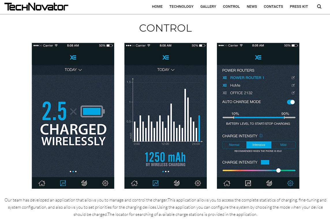 Technovator - это станция для беспроводной зарядки смартфонов Apple