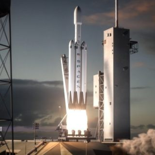 Запуск Falcon Heavy и Tesla летит на Марс