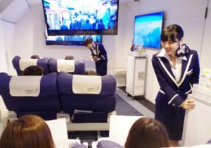 В Японии открыли ресторан-самолет с виртуальными полетами в другие страны