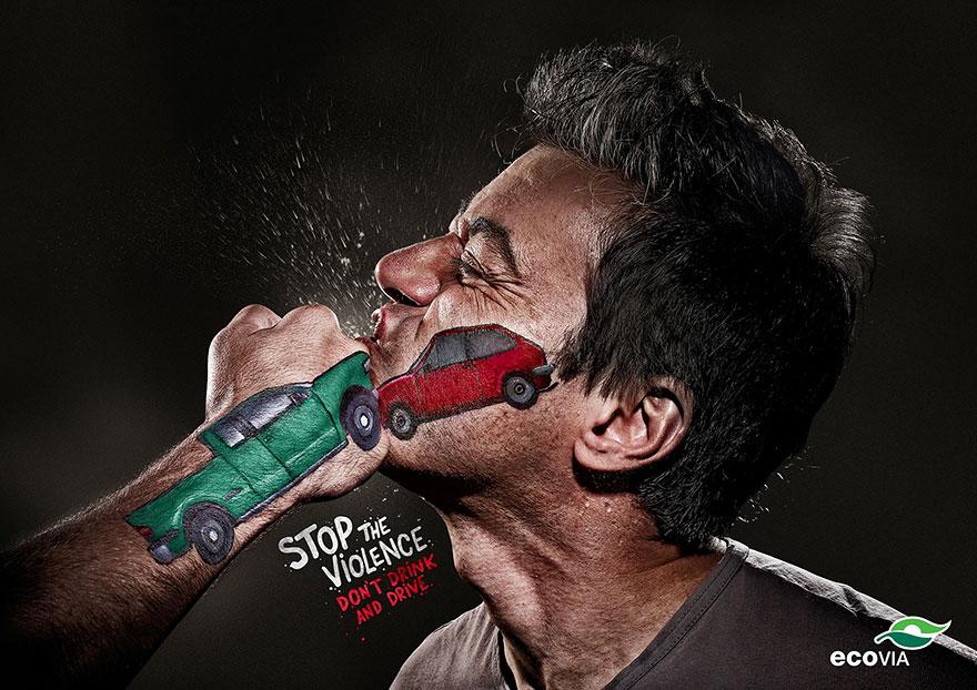 Рекламный баннер насилие на дорогах