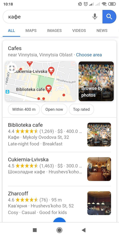 Сайты, оптимизированные под локальный поиск