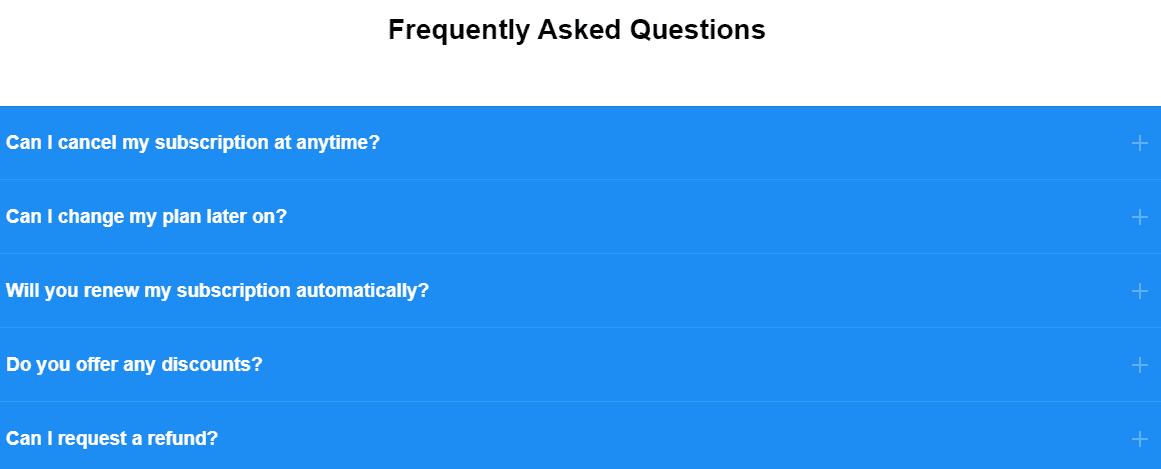 FAQ на сайте