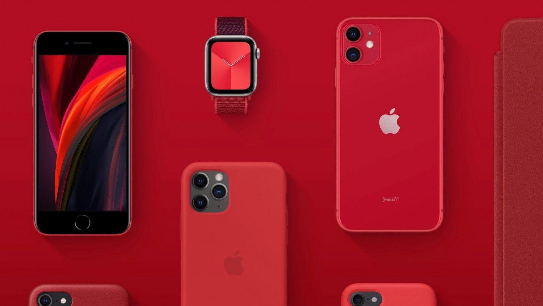 Смартфон линейки Product Red компании Apple
