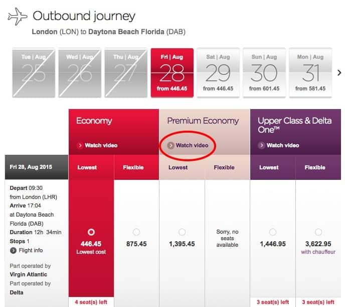 Авиакомпания Virgin Atlantic допродажи
