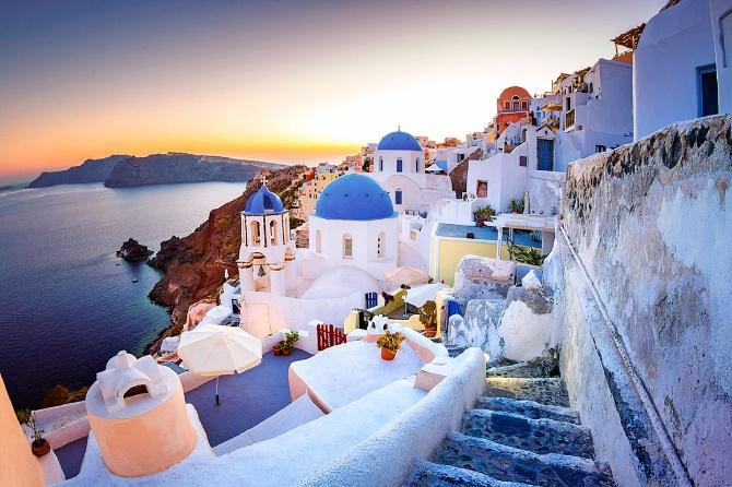 Греческий город «Санторини»