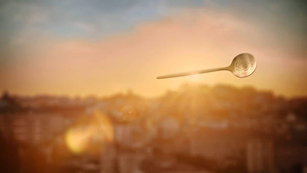 Летающая ложка для кофе