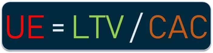 UE = LTV / CAC