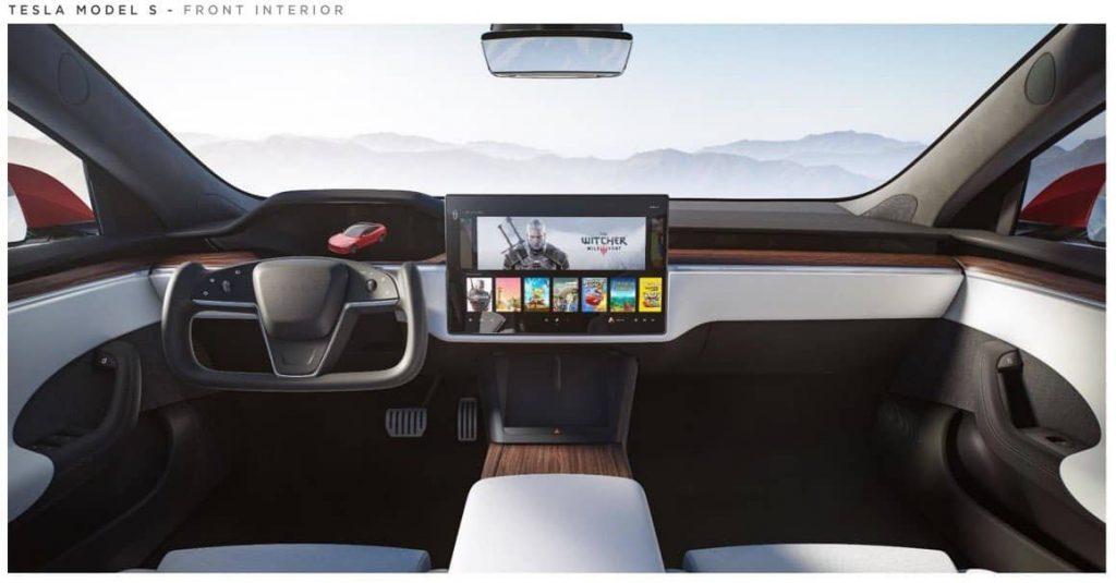 Фишки новой Model S_ руль, похожий на штурвал, и возможность играть в компьютерные игры