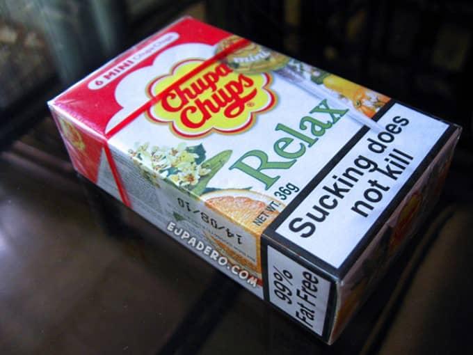 Chupa-chups сигареты