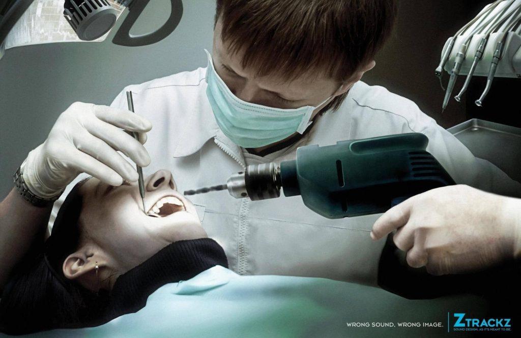 Печатная реклама под названием Ztrackz Sound Design: Dentist