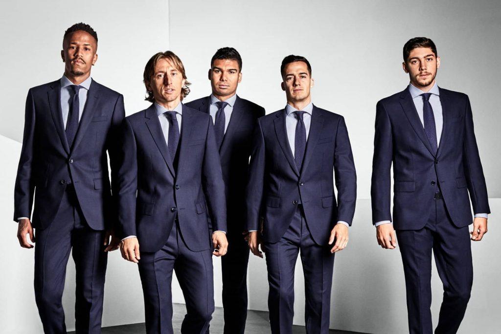 Футболисты клуба «Реал Мадрид» в костюмах Hugo Boss