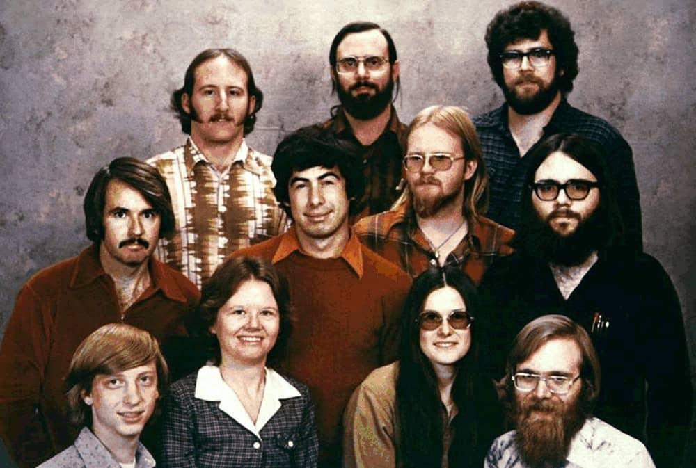 Первые 11 сотрудников компании Майкрософт в 1978 году