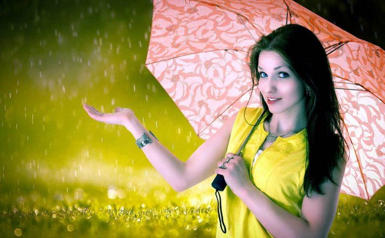 Погода зонтик дождь девушка