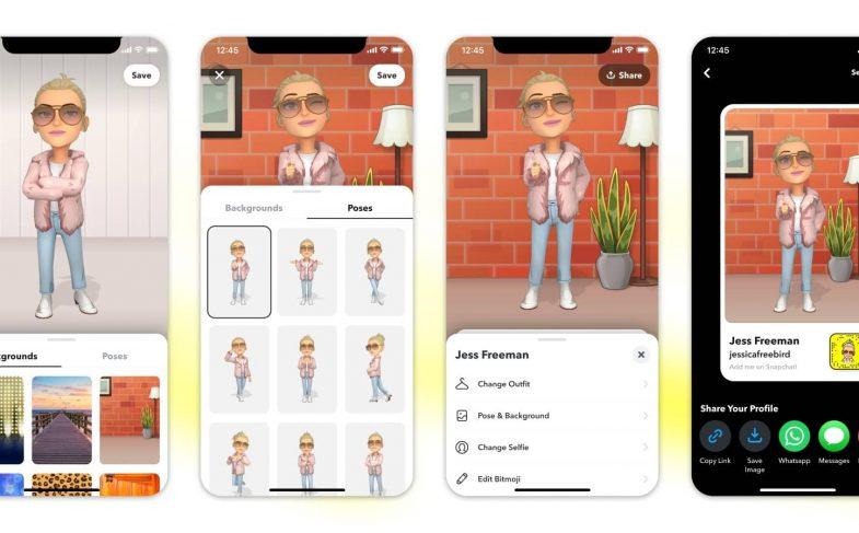 3D Bitmoji in Profile_Share Flow
