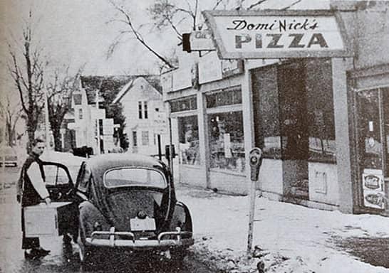 Первая пиццерия и Volkswagen Beetle, на котором доставляли пиццу
