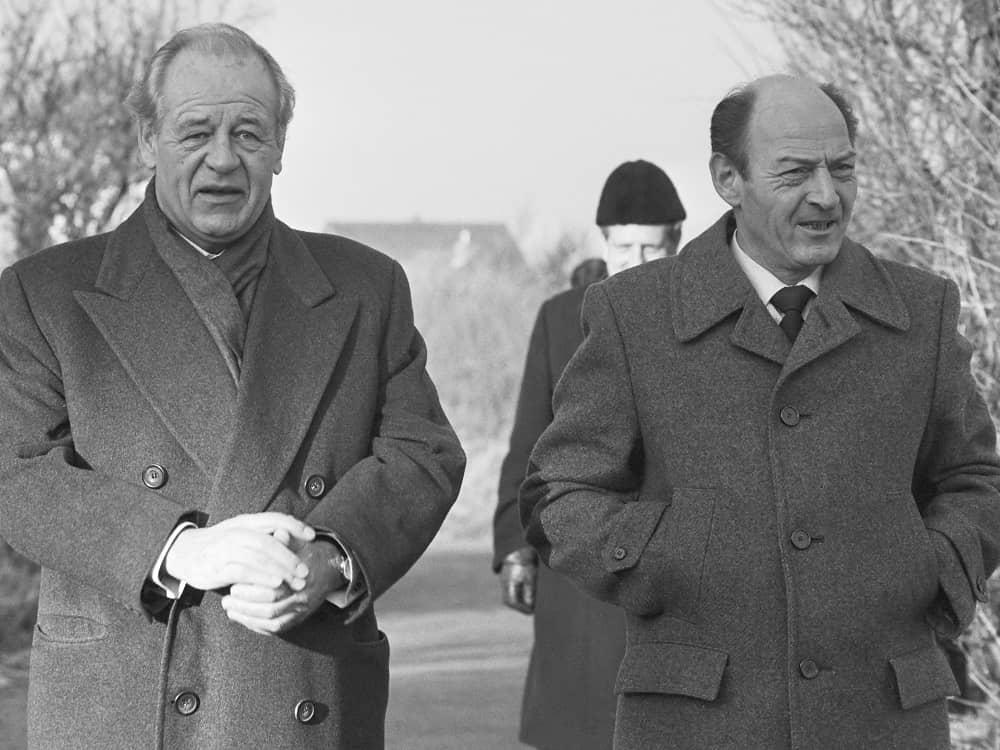 Альфред Хайнекен и его водитель после освобождения